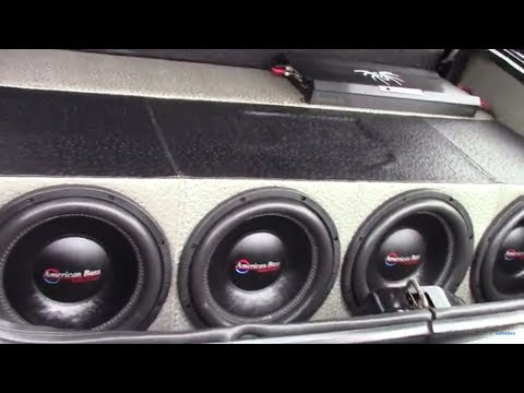 4 AMERICAN BASS 12S IN A CADILLAC FLEETWOOD