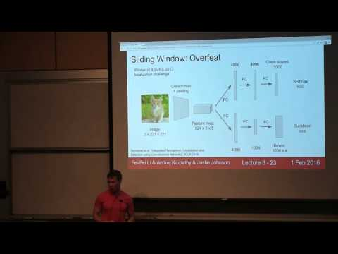 CS231n Winter 2016: Lecture 8: Localization and Detection