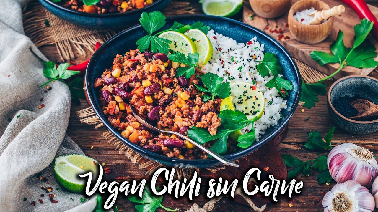 Chili sin Carne *Veganes Chili Rezept* schnell & einfach!