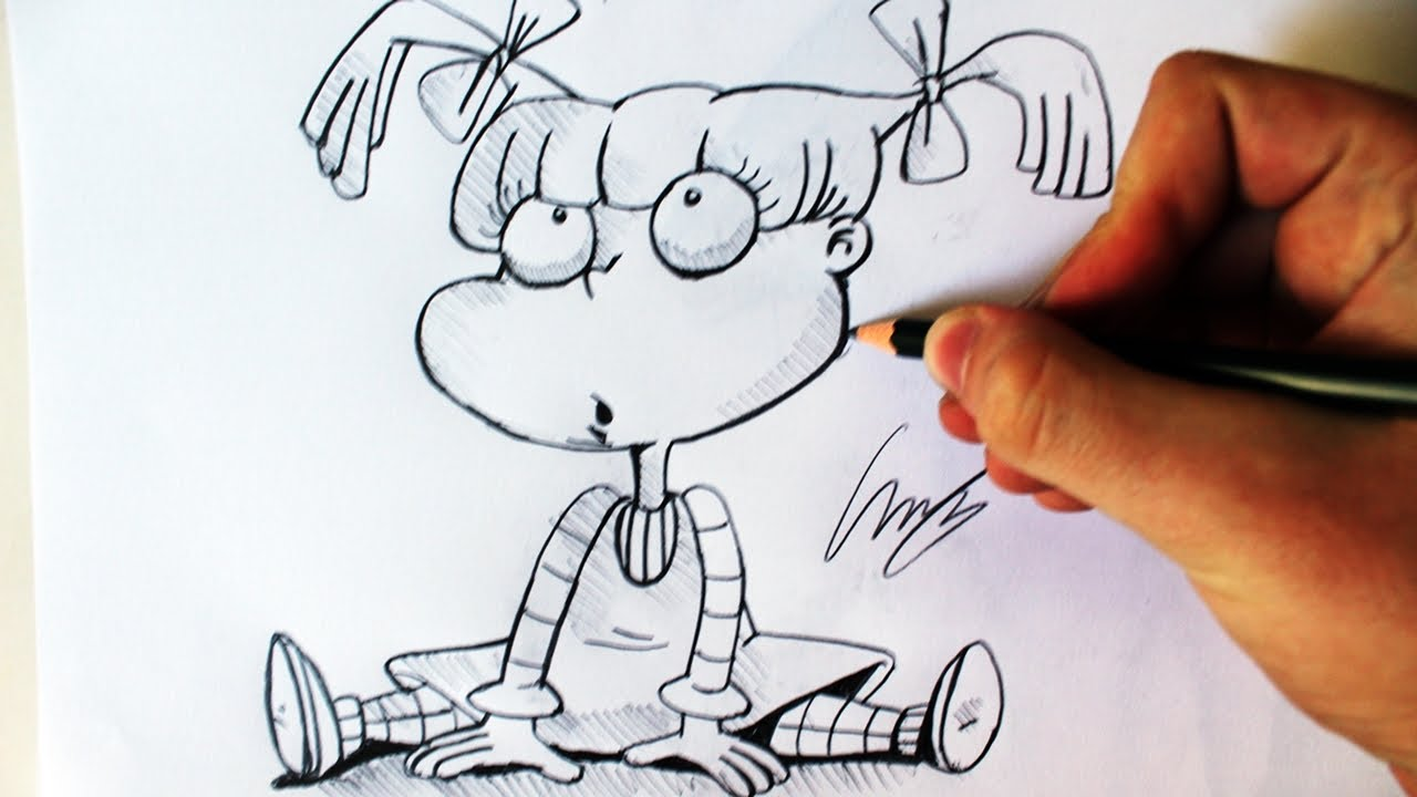 Como Desenhar a Angelica Pickles [RUGRATS] - (How to Draw Angelica ...