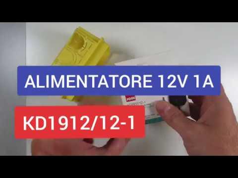 Alimentatore per telecamere 12V 1A - Applicazione TVCC - Modello KD1912-12/1