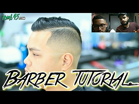 Side Part Fade Mens Haircut Tutorial Asian Hair Youtube