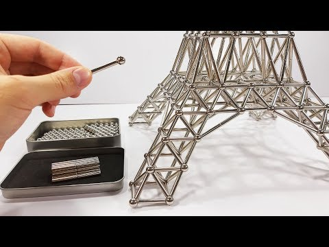 How to make Eiffel Tower from Magnets | ASMR DIY