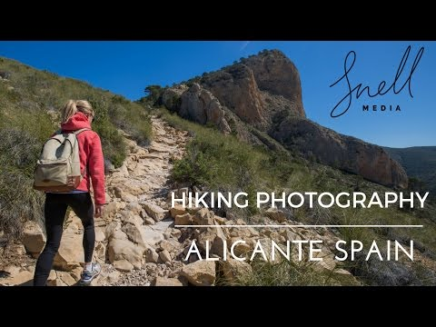 Hiking Photography in Alicante Spain