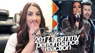 demi lovato 2017 grammy performance reaction