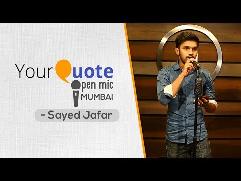 'Let Me Get Over This Pain' & More by Sayed Jafar | English & Hindi Poetry | YQ Open Mic 4 Mumbai