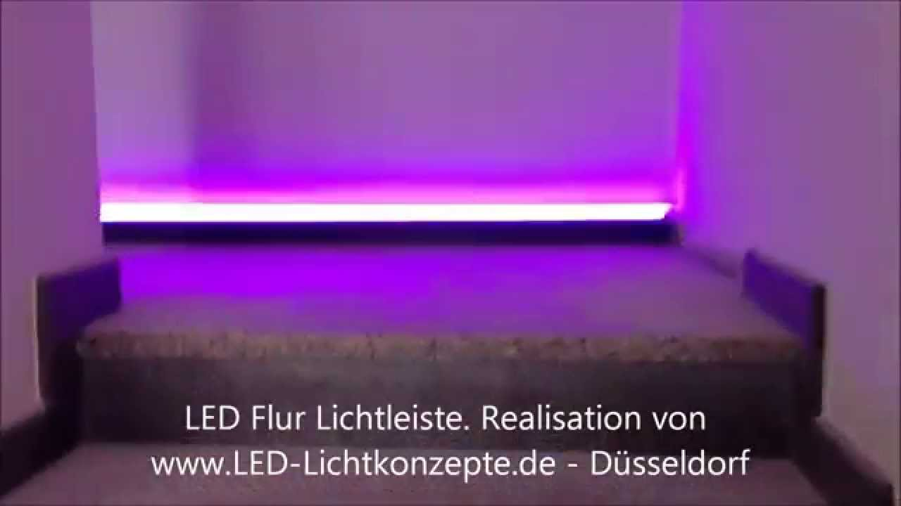 flurbeleuchtung led lichtinstallation wohnungsbeleuchtung eingangsbeleuchtung rgb youtube. Black Bedroom Furniture Sets. Home Design Ideas