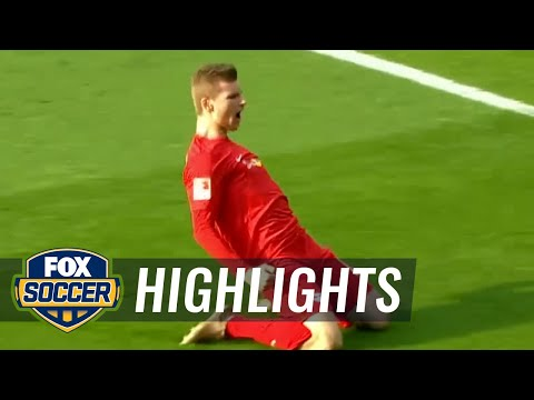 Timo Werner heads it in for RB Leipzig ​ | 2016-17 Bundesliga Highlights