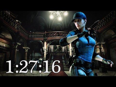 Resident Evil HD Remaster Speed Run 1:27:16 PS3 Jill BSAA 720p
