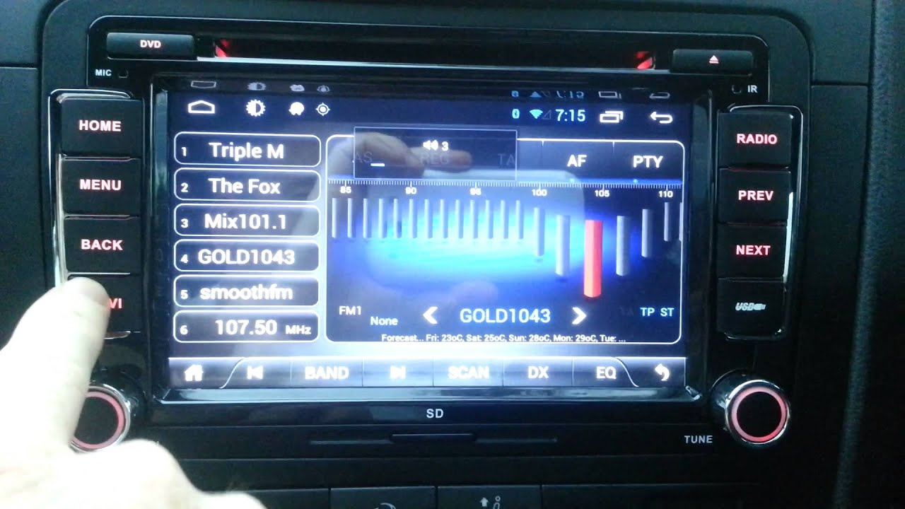 Android Dual Core 4 1 Head Unit VW Golf GTI MK5