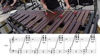 "2018 Boston Crusaders Marimba - LEARN THE MUSIC to ""Marimba Spiritual"""