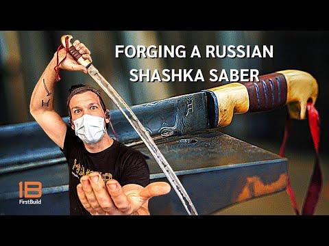 Forging A Damascus Steel WWII Shashka Saber | Blacksmith Collin Sage