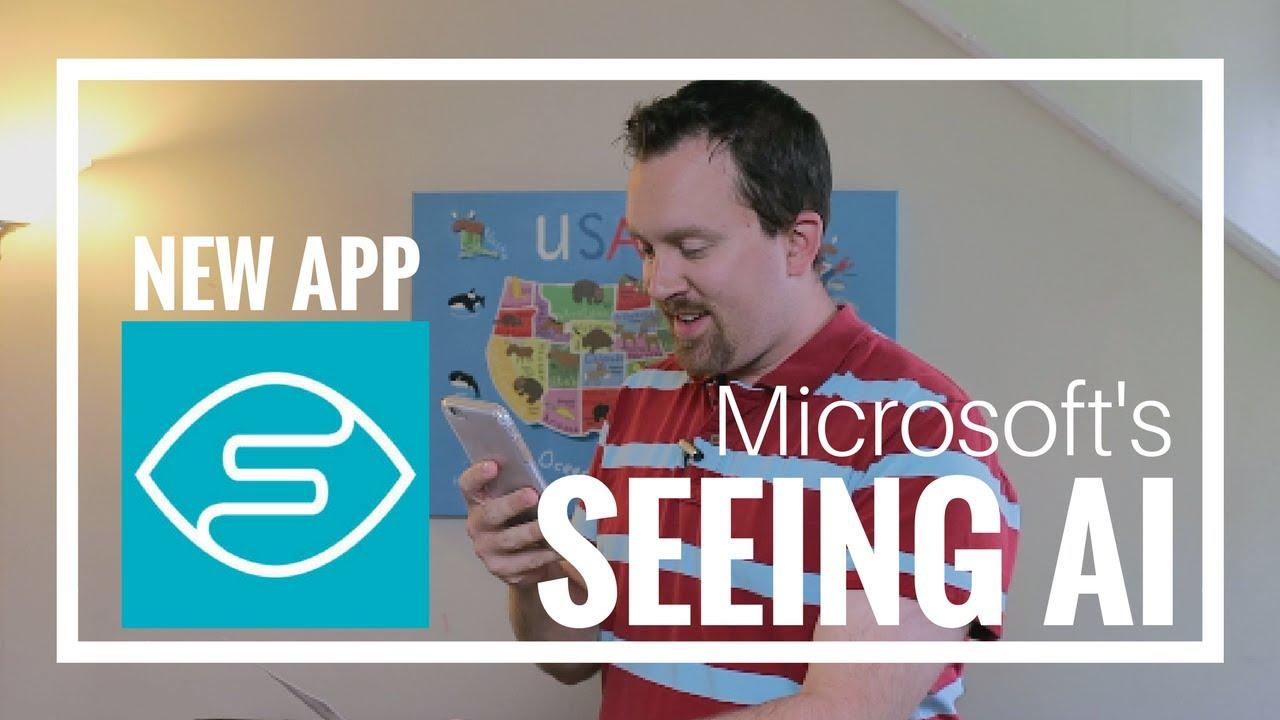 Resultado de imagem para microsoft app seeing AI