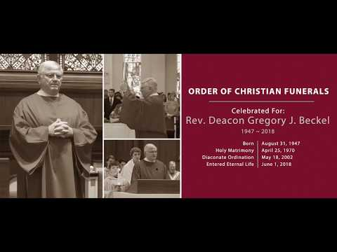 1 of 3 Flyover and Reception of the Body ~ Deacon Gregory J  Beckel