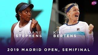 Kiki Bertens verslaat Sloane Stephens en staat wederom in finale WTA Madrid