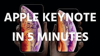 iPhone XS / XR & Watch 4: Apple's event in 5 minutes