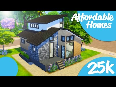cool building an affordable home. Sims 4 Speed Build  25k Modern Affordable Homes New Series