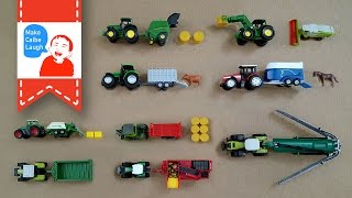 Learning Farm Vehicles Names for kids with siku