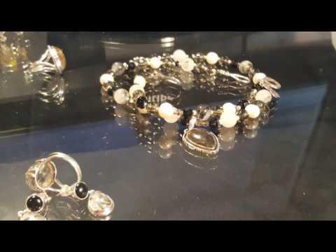 4. Серебряные украшения  . Рутиловый кварц . Турмалин . Кольцо Красная пресня