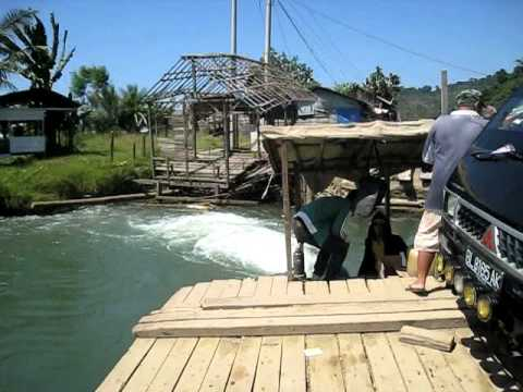 Post tsunami floating bridges in Aceh