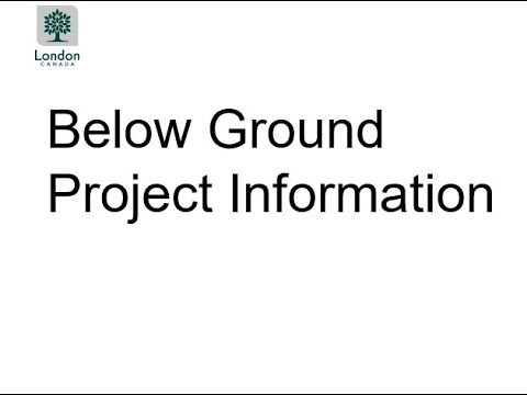 Presentation 1: Below Ground information for Sackville Street