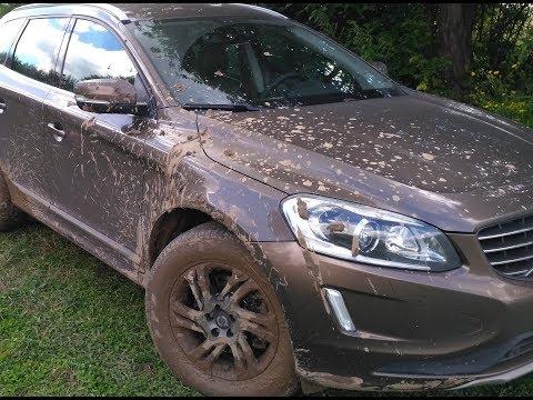 Остались матовые пятна от грязи (глины) на машине.