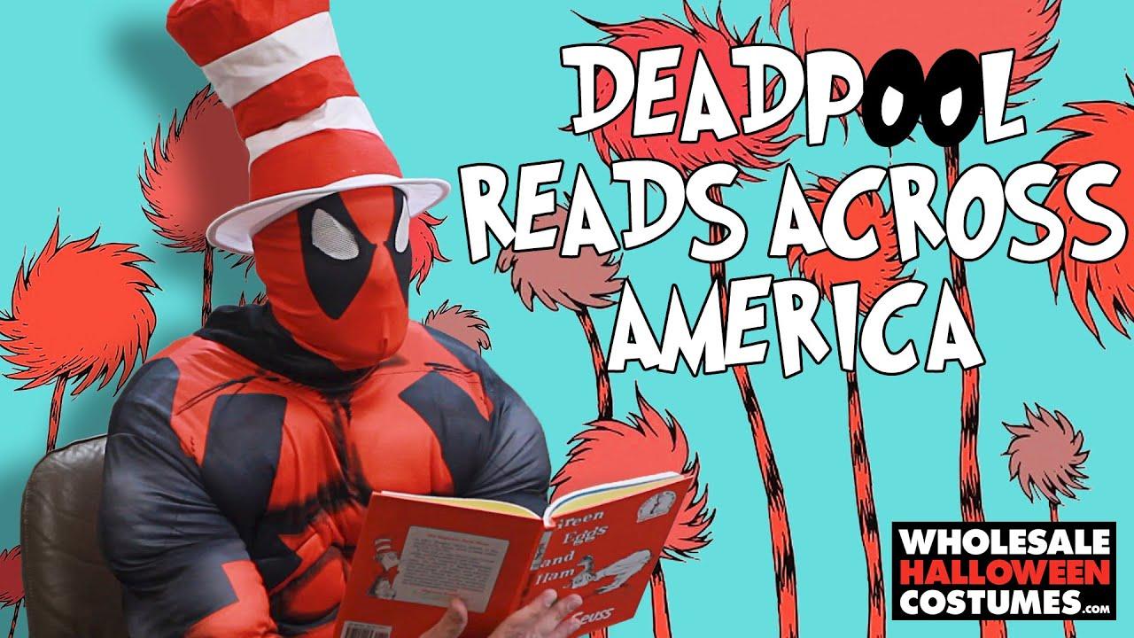 deadpool reads green eggs and ham | #readacrossamerica - youtube