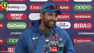 Not Playing for Records: Rohit Sharma After Scoring 5th Century at ICC World Cup 2019 | The Quint