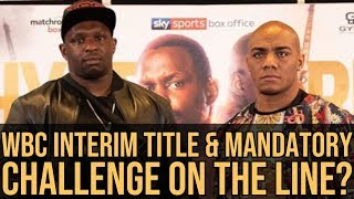 DILLIAN WHYTE TO GET WBC BOOST AHEAD OF OSCAR RIVAS MATCH UP?