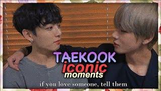 TAEKOOK/ VKOOK ICONIC MOMENTS - cute and funny taekook/ vkook moments