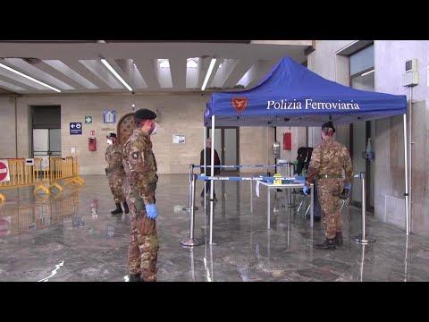 Coronavirus Palermo, militari alla stazione e al porto per i controlli