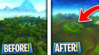 Cutting Down EVERY Tree In Wailing Woods! (Fortnite Battle Royale)
