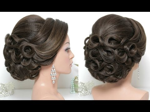 Bridal Hairstyle for Long Hair Tutorial Updo for Wedding