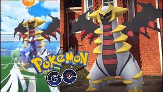 WORLD'S FIRST GIRATINA RAID IN POKÉMON GO! + Gen 4 Ghosts and Spiritomb Research!