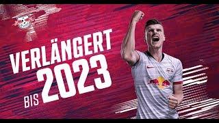 Timo werner bleibt bei rb leipzig: vertragsverlängerung mit nationalspieler bis 2023.▶ http://www.dierotenbullen.com/facebook: https://www...