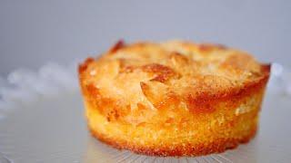 Florentine on the top, financier cake on the bottom フロランタン・フィナンシェ・ケーキ