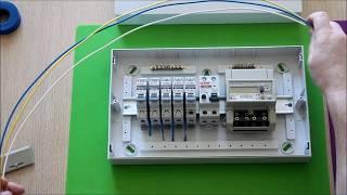 видео Щиток для электросчетчика и автоматов
