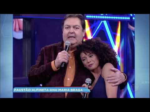 Hora da Venenosa: Faustão alfineta Ana Maria Braga sobre polêmica com Taís Araújo