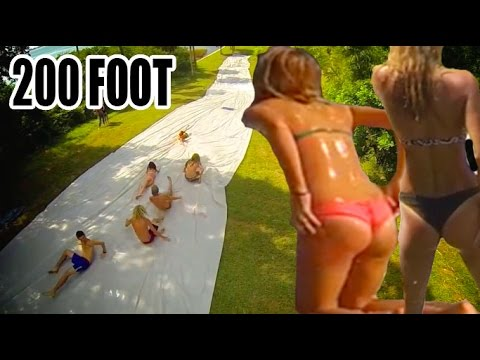 EPIC 200 FOOT FLORIDA SLIP N SLIDE! Part 2.Girls & Summer Fun! | JOOGSQUAD PPJT from YouTube · Duration:  5 minutes 52 seconds