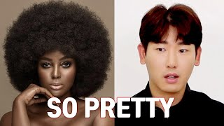 Asian speaking black hair