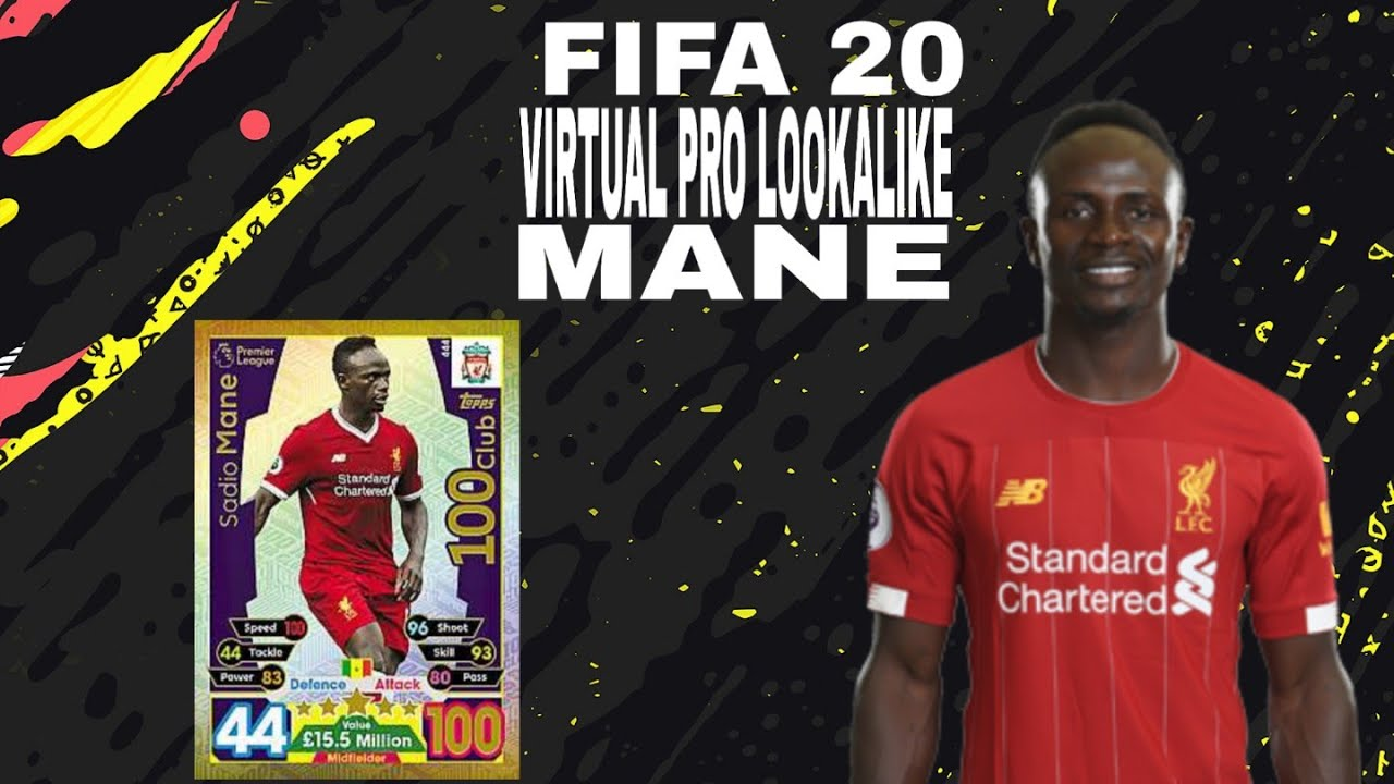 FIFA 20 VIRTUAL PRO LOOKALIKE SADIO MANE - YouTube