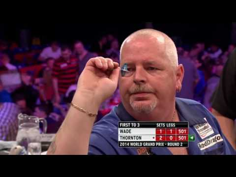TWO NINE-DARTERS IN ONE MATCH | Wade and Thornton - 2014 World Grand Prix