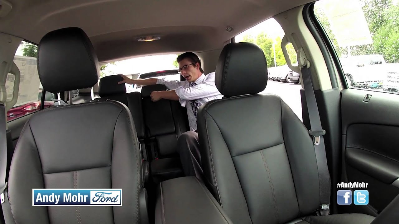 Ford Edge Seating Storage One Touch Hatch Power Fold Down Back Seat Youtube