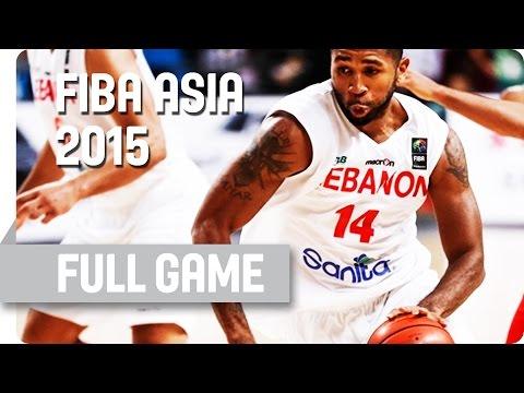 Korea v Lebanon - Classification 5-6 - Full Game - 2015 FIBA Asia Championship