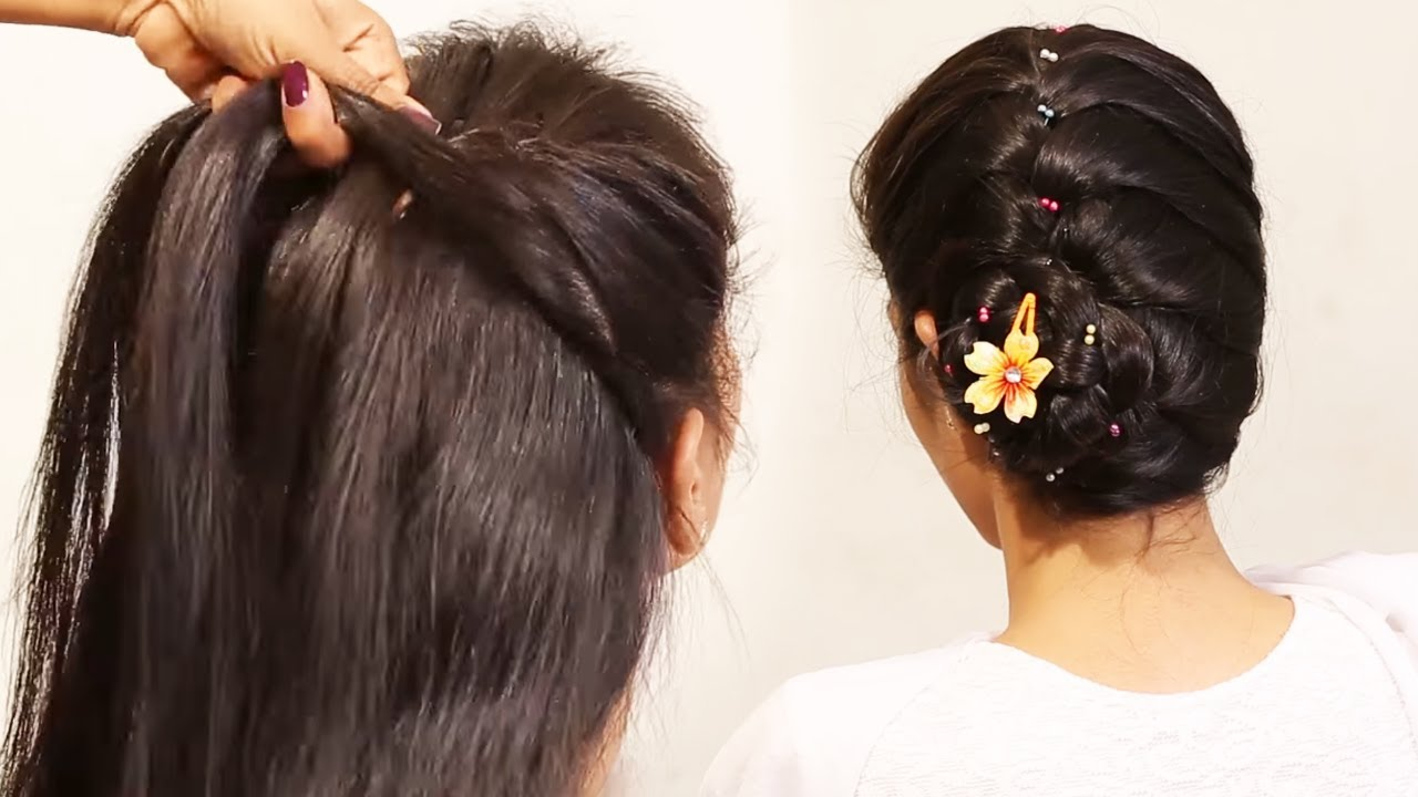 Simple Ponytail Messy Bun Puff Hairstyles Quick And Easy Hairstyle