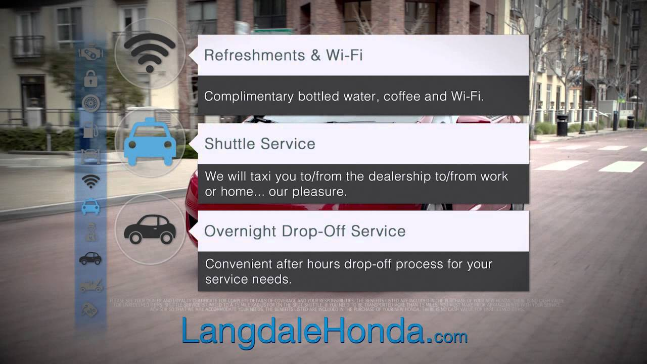 Langdale Honda   Overnight Drop Off Service