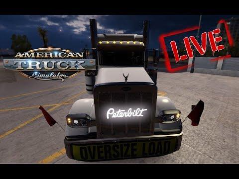 American Truck Simulator | Peterbuilt Hauling Heavy (live stream)