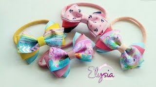 Headband ideas : Three Color Ribbon Bow Headband | DIY by Elysia Ha...