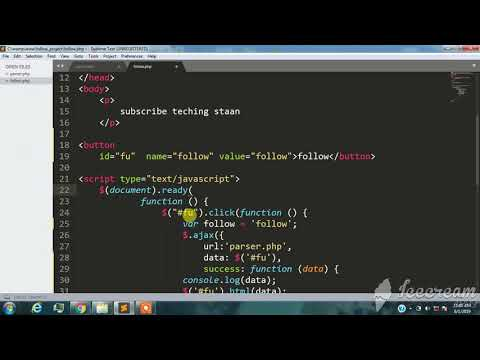How to make a follow unfollow system in PHP hindi ajax jQuery