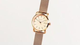 Đồng hồ Fossil #46   Review đồng hồ Fossil ES4333 phiên bản vàng hồng thời trang trên mẫu dây lưới
